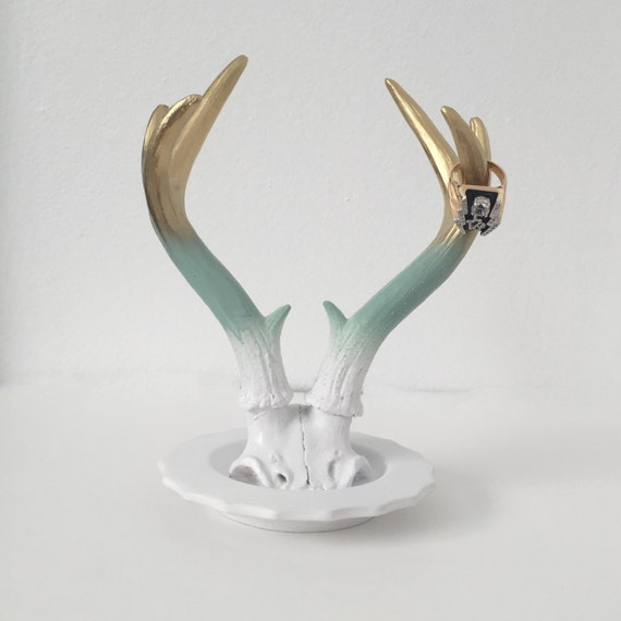 any color ombre jewelry faux deer antler holder by kingfour