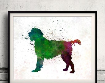 Wirehaired Pointing Griffon Korthals in watercolor - Fine Art Print Glicee Poster Decor Home Watercolor Gift Illustration dog - SKU 1431