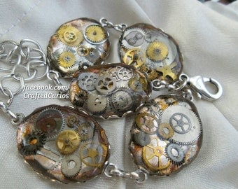 Steampunk Bracelet, Steampunk Jewelry, Star Wars Cosplay, Doctor Who Bracelet, Fallout Cosplay, Vampire Jewelry, Post Apocalyptic, Sci-fi