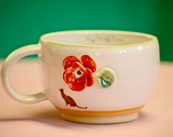 The Bull Bull Collection - Bold Poppy Latte Cup