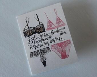 Satin & Lace Bridal Shower/Bachelorette Card