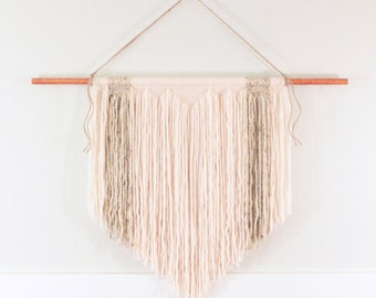 Handmade Macrame Wall Hanging - Cream and Speckled