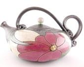 Ceramic teapot 40oz, Stoneware Teapot, Pottery tea pots, handmade teapots, Ceramics and pottery,  tea set,  handmade teapot, metallic