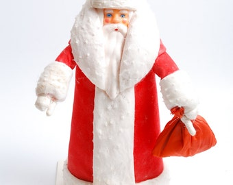 Vintage Russian plastic Toy from 1960-1980, Santa Claus,  Ded Moroz  (C0086)