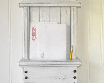 Mail Organizer Modern Rustic Design Handmade Wall Mounted Key Rack