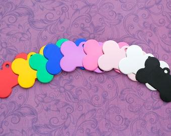 Custom Engraved Dog Bone Pet Tag - Choose Your Color - Dog Collar - Cat Collar - Cat Tag - Dog Tag - Pet ID Tag - ID Tag