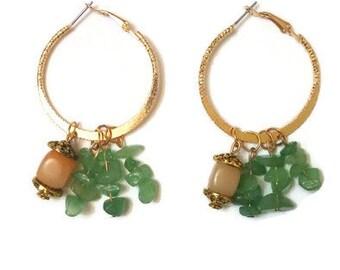 Long Boho Earrings - Gold Boho Earrings - Long Gold Earrings - Boho Statement Earrings - Gold Statement Earrings - Long Statement Earrings