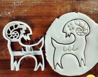Goat cookie cutter | biscuit cutter | ram | sheep | 山羊 염소 ヤギ one of a kind ooak | Bakerlogy