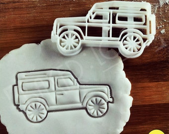 Land Rover Defender 90 Inspired Cookie Cutter | Classic Utility Vehicle biscuit cutter | four-wheel-drive off-road car | one of a kind ooak