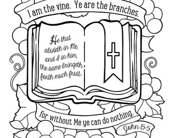 I Am The Vine Coloring Page Jesus The Vine Coloring Page