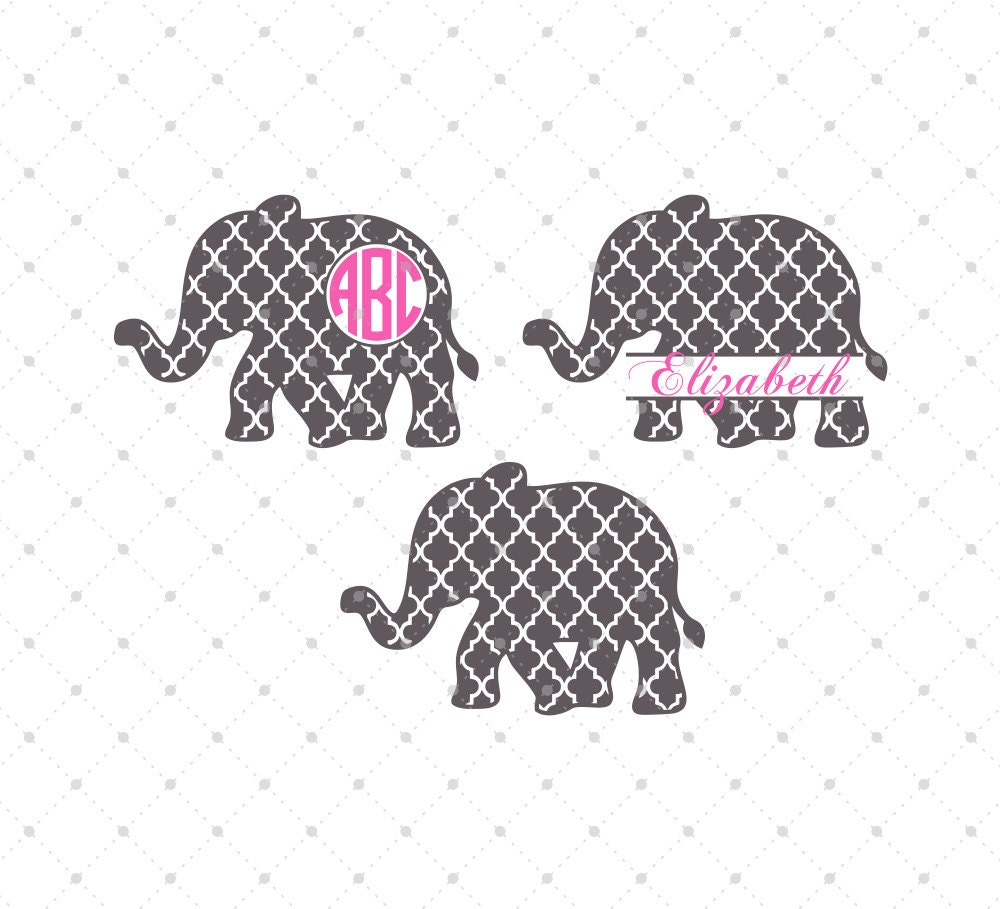 Quatrefoil Elephant Svg Cut Files Elephant Svg Cut Files For