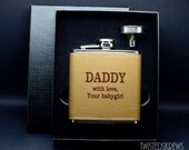 READY to SHIP bdsm Dom Flask custom engraved personalized gift master daddy owner kinky bondage leather stainless steel ddlg ddlb