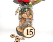 Rustic Wedding Table Numbers ~ Tree Slice table number ~ Graduation Numbers ~ Woodland event log slice ~ Woodland wedding ~ Party decoration