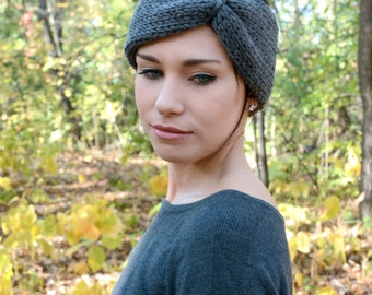The Phoenix Headband ∙ Knotted Basic Headband ∙ Charcoal Grey