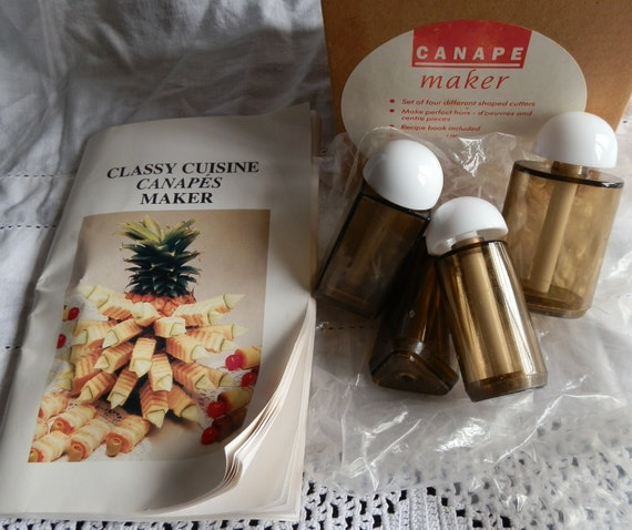 Vintage canape maker for perfect hors d 39 oeuvres made in for Canape maker