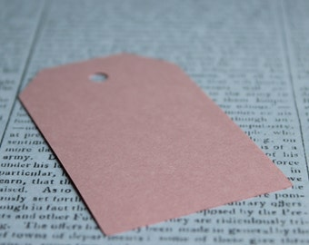 Baby Pink Paper Luggage Tags - 45mm x 75mm - 10pcs