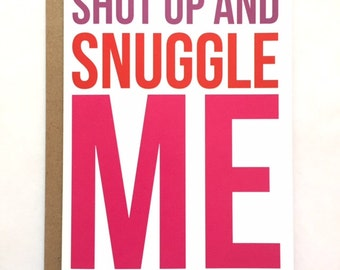 SNUGGLE - Love Card