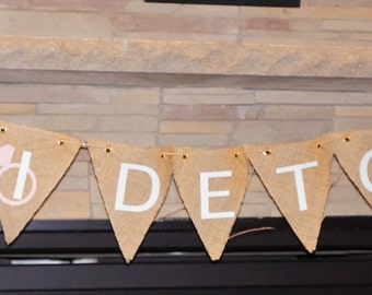 Burlap Bride to Be Banner