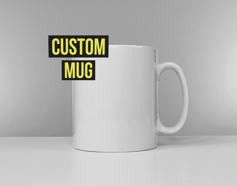 Custom ceramic mug listing create your own customised coffee Design your own mugs uk