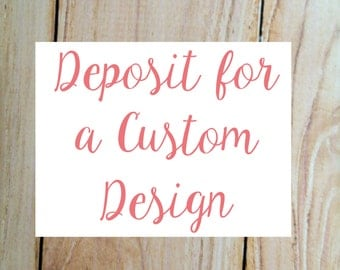 Deposit - I'd Like a Custom Design by Blush Hydrangeas!