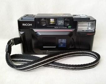 Vintage 1984 Ricoh FF-3D AF SUPER Camera, 35 mm Film Camera w/Straps, Tested, made in Japan