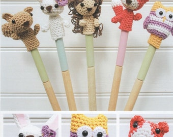 DMC 15213L/2 Woodland Animal Finger Puppets Amigurumi Crochet Pattern