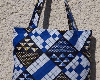 "Wo-Kaba 3 a tote bag in african fabric ""ankara/ wax style"""