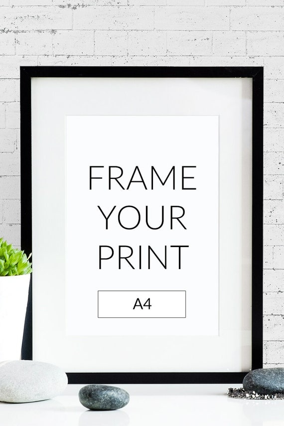 frame your poster matting optional size a4. Black Bedroom Furniture Sets. Home Design Ideas