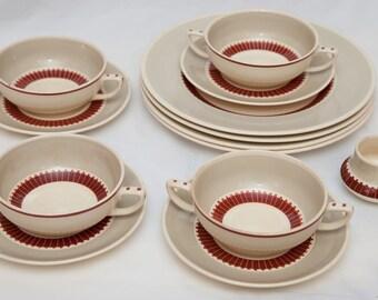 Vintage Susie Cooper Pattern 1521 (c.1930's) Cups, Saucers, Side Plates Etc
