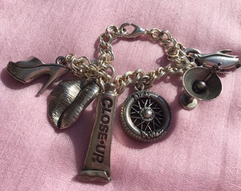 1990' Nicole Miller Silver Charm Bracelet