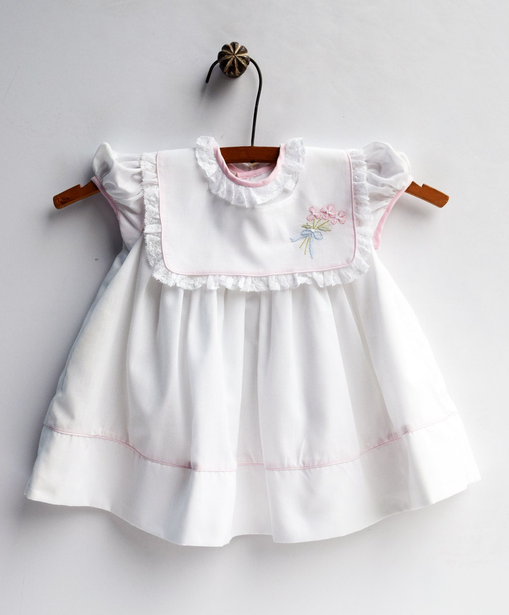 White Baby Dress Baby Girl Dress Vintage Size 24 Months