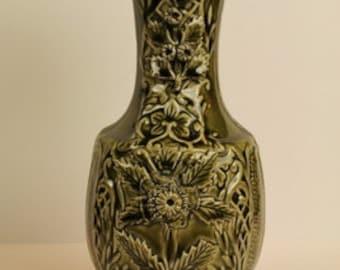 Green Thistle Porcelain Vase