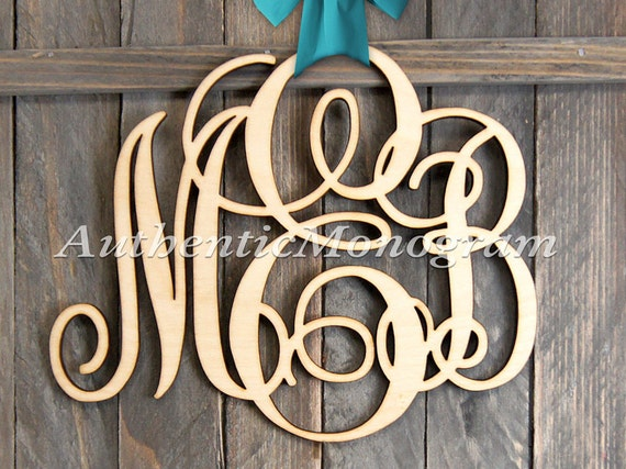 monogram wooden letters large wooden monogram wall letters unpainted home decor 23687 | il 570xN.881306138 rcye