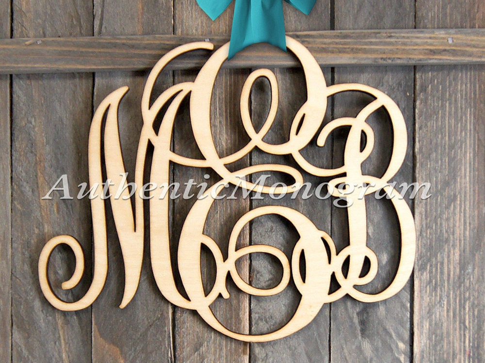 large wooden monogram wall letters unpainted home decor. Black Bedroom Furniture Sets. Home Design Ideas