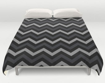 chevron duvet cover black grey bedding black bed cover comforter grey chevron