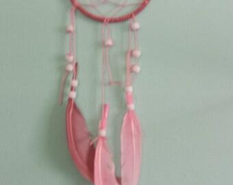 Handmade Pink Dreamcatcher