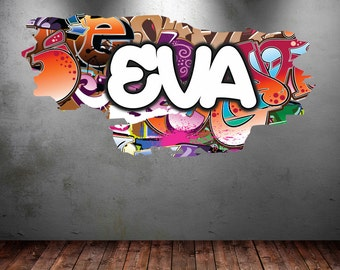 Design Your Own Wall Art Stickers design your own wall stickers single colour personalised wall Personalised Graffiti Name Wall Decals Full Colour Wall Art Sticker Transfer Print Girls Boys Bedroom Wall