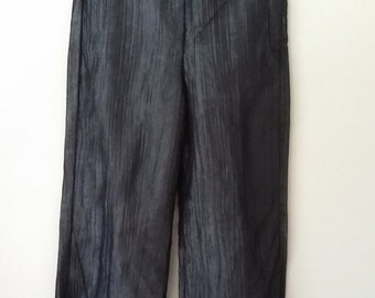 Black palazzo pants, XS, beaded pants, formal pants, sequined pants, sheer pants, black formal pants, formal trousers