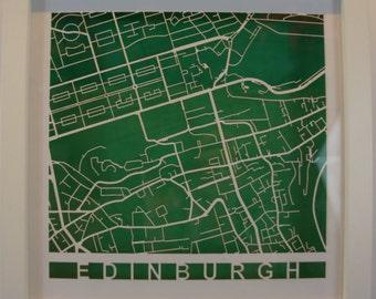 Edinburgh Laser cut map - White
