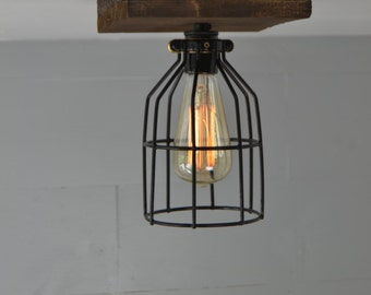 Flush Mount - Ceiling Mount - Reclaimed Wood - Wood fixture - Ceiling Light - Flush Mount Wood Light - Lighting -wood design - rustic light