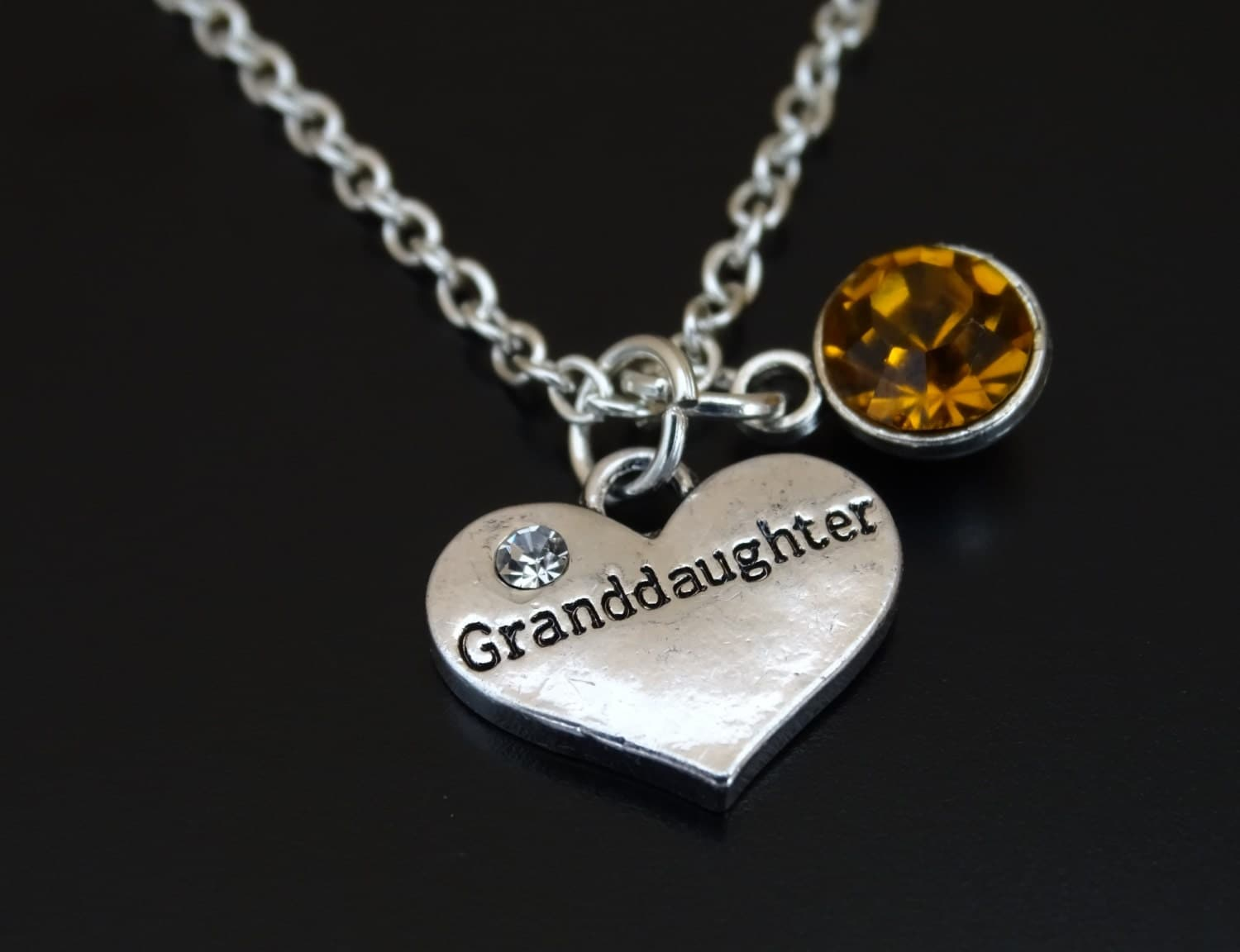 Granddaughter Necklace Granddaughter Charm Granddaughter