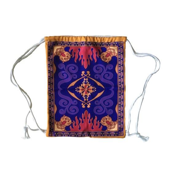 Aladdin Magic Carpet Inspired Drawstring Backpack