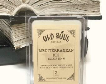 Mediterranean Fig Soy Wax Tart Melt, Vegan Soy Melts, Scented Tart Melts for Wax Melter, Gift, Eco Friendly Tarts