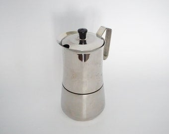 Vintage A. Dotti Coffee Maker - Made in Italy - Stainless Steel