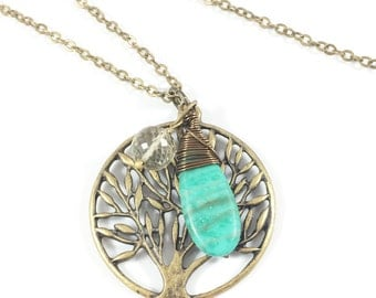 Tree Necklace, Tree Pendant, Tree of Life Necklace, Leaf Necklace, Bohemian Jewelry, Spiritual Jewelry, Tree of Life Jewelry, Nature Gifts