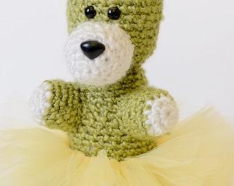 Teddy Bear in Tutu - Crochet Animal - Amigurumi Animal - Crochet Toys - Amigurumi Bear - Crochet Teddy Bear - Amigurumi Toy - Ballerina Bear
