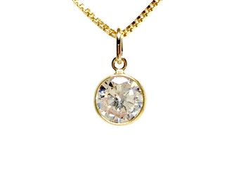K14 Gold filled Necklace, Cubic Zirconia Gold filled Pendant, Gold Pendant, Cubic Zirconia Pendant, Gold Filled Jewelry, Gift Jewelry, Crystal