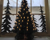 "Big 18"" Christmas Tree Vintage Lite up Ceramic Table Top Tree Green Tree White Lights Perfect Ceramic Tabletop Tree Christmas Lighting"
