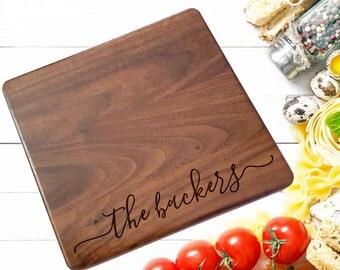 Cheese Board, Small Custom cutting board, Personalized cutting Board ,Wedding Monogram,  kitchen sign (158)
