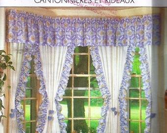 Valences and Curtains / Cantonnières et rideaux - Simplicity no 9540